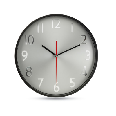 Picture of WALL CLOCK W SILVER BACKGROUND