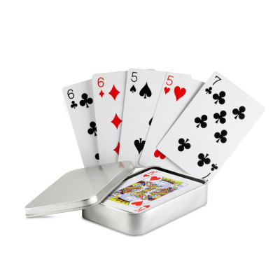 Picture of CLASSIC PLAYING CARD PACK SET in Silver Tin Box