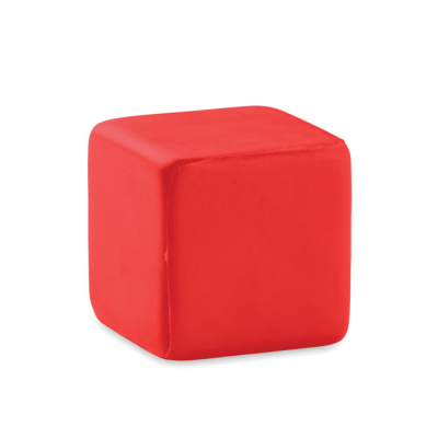 Picture of CUBE STRESS ITEM in Red