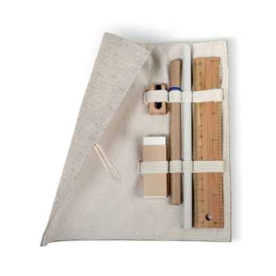 Picture of ECO FRIENDLY 6 PIECE STATIONERY SET in Natural