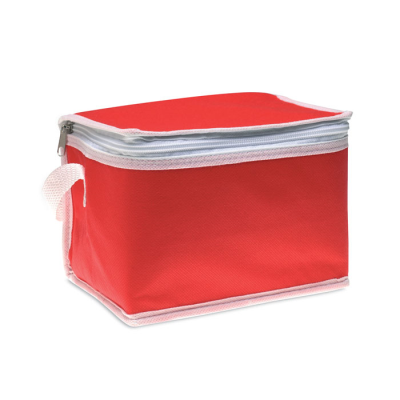 Picture of NON WOVEN 6 CAN COOL BAG in Red