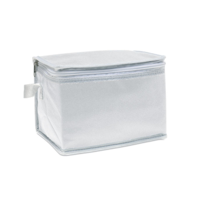 Picture of NONWOVEN 6 CAN COOL BAG in White