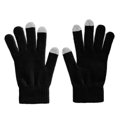 Picture of TACTILE GLOVES FOR SMARTPHONES in Black