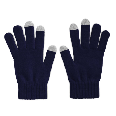 Picture of TACTILE TOUCH SCREEN GLOVES FOR SMARTPHONES in Blue