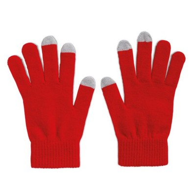 Picture of TACTILE TOUCH SCREEN GLOVES FOR SMARTPHONES in Red