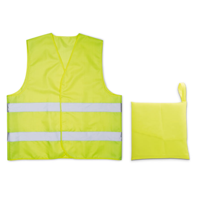 Picture of KNITTED SAFTEY MATERIAL WAISTCOAT in Yellow