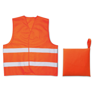 Picture of KNITTED SAFTEY MATERIAL WAISTCOAT in Orange