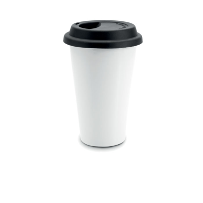 Picture of DOUBLE WALL TRAVEL MUG in Black
