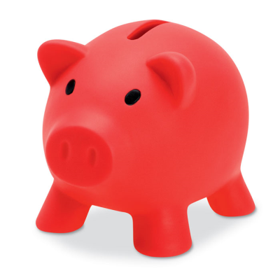 Picture of PIGGY BANK in Red