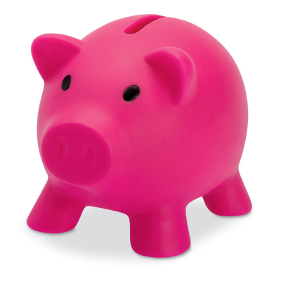 Picture of PIGGY BANK in Fuchsia Pink