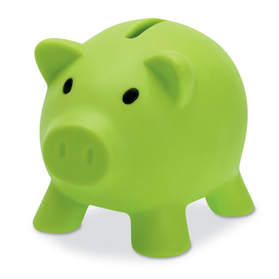 Picture of PIGGY BANK in Lime Green