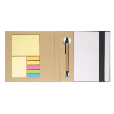 Picture of NOTE BOOK with Sticky Notes & Pen in Black