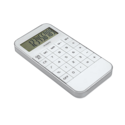 Picture of ABS PLASTIC 10 DIGIT CALCULATOR in White
