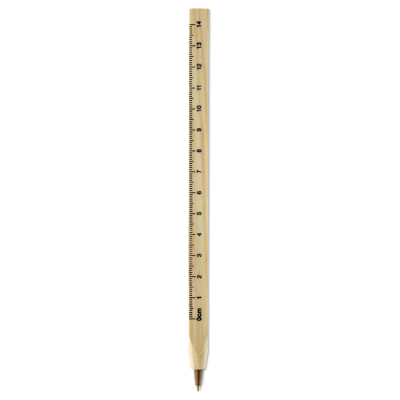 Picture of WOOD RULER BALL PEN
