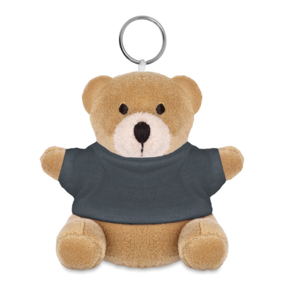 Picture of TEDDY BEAR KEYRING in Grey