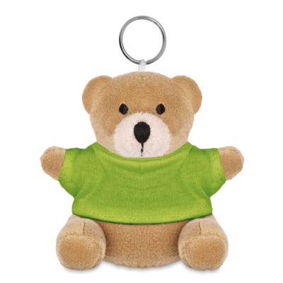 Picture of TEDDY BEAR KEYRING in Lime