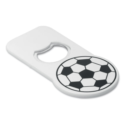 Picture of PLASTIC FOOTBALL DESIGN BOTTLE OPENER in White