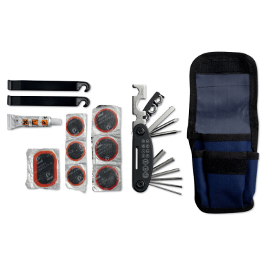 Picture of BICYCLE REPAIR KIT in Blue Pouch with Reflective Trim