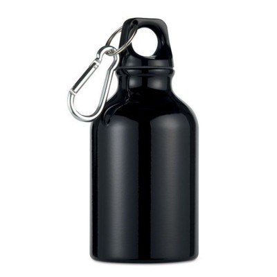 Picture of ALUMINIUM METAL FLASK BOTTLE in Black