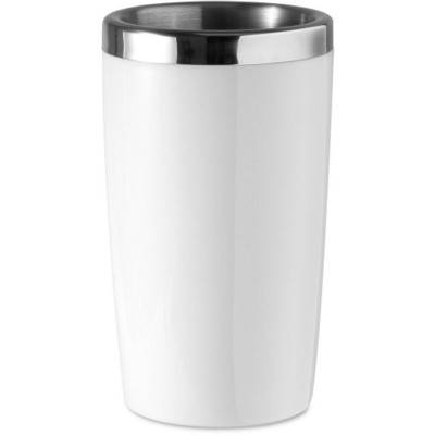 Picture of STAINLESS STEEL METAL WINE BOTTLE COOLER in White