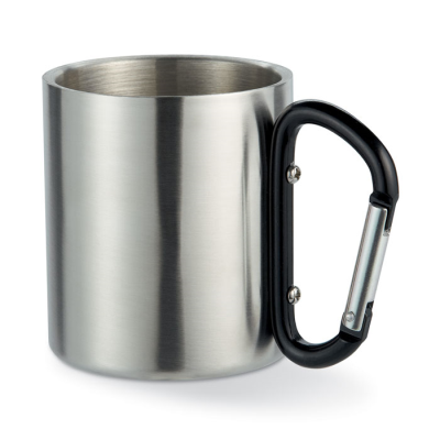 Picture of STAINLESS STEEL METAL TRAVEL MUG in Black