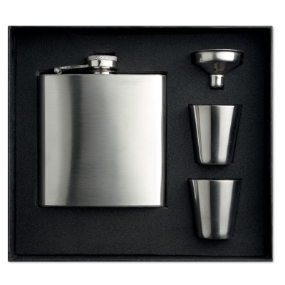 Picture of SLIM HIP FLASK W 2 CUP SET