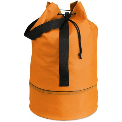 Picture of DUFFLE DRAWSTRING BAG in Orange