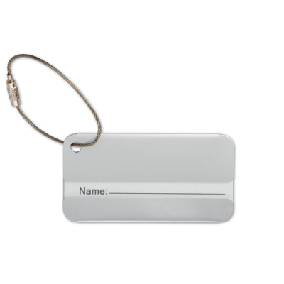 Picture of ALUMINIUM METAL TRAVEL LUGGAGE TAG in Matt Silver
