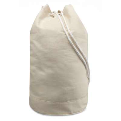 Picture of COTTON DRAWSTRING DUFFLE BAG in Natural