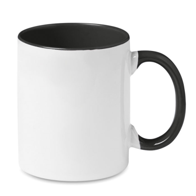 Picture of COLOUR SUBLIMATION MUG in Black