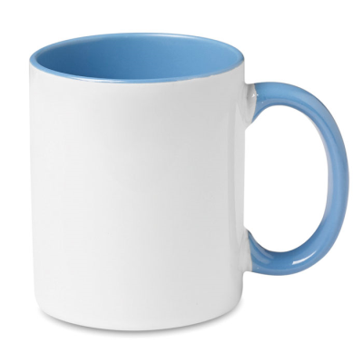 Picture of CERAMIC POTTERY MUG in White and Blue