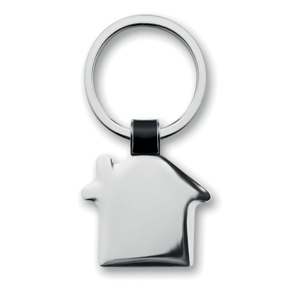 Picture of HOUSE SHAPE METAL KEYRING