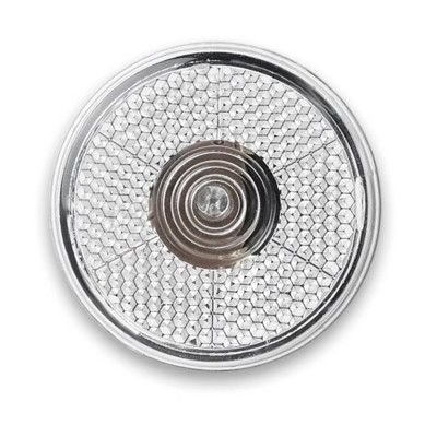 Picture of ROUND FLASHING RED LED LIGHT with Back Clip