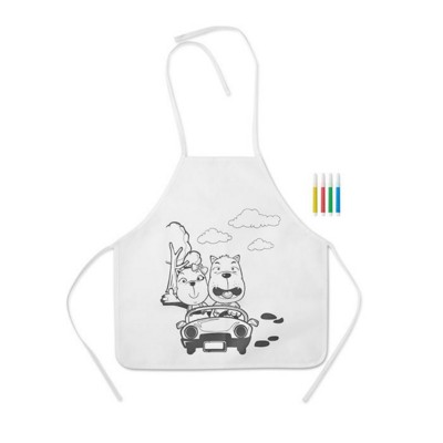 Picture of NON WOVEN CHILDRENS APRON with 4 Markers