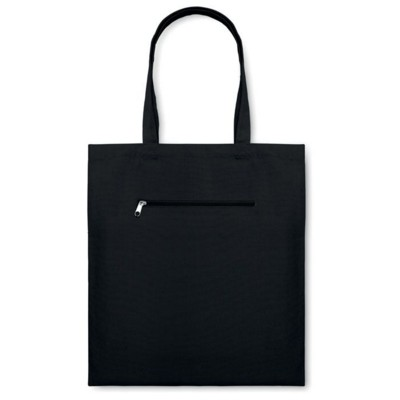 Picture of MOURA CANVAS SHOPPER TOTE BAG in Black