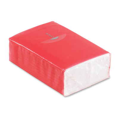 Picture of MINI TISSUE PACK 10X3 PLY in Red