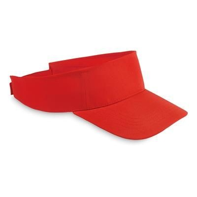 Picture of POLYESTER VISOR in Red
