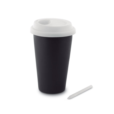 Picture of CHALK TUMBLER with Silicon Lid in White