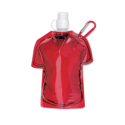 Picture of TEE SHIRT SHAPE FOLDING WATERBOTTLE in Red