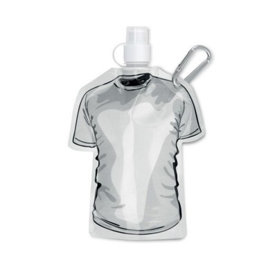 Picture of TEE SHIRT SHAPE FOLDING WATERBOTTLE in White