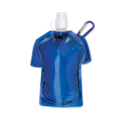Picture of TEE SHIRT SHAPE FOLDING WATERBOTTLE in Royal Blue