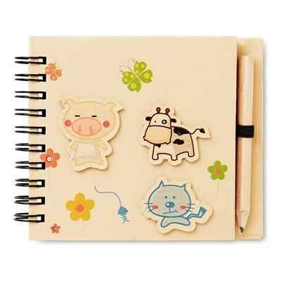 Picture of CHILDRENS NOTE PAD with Pen in Beige