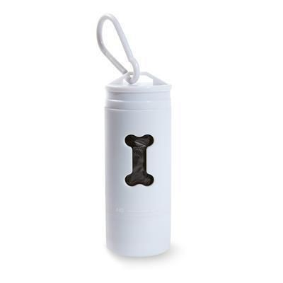 Picture of DOG LED LIGHT with Rubbish Container Bags in White