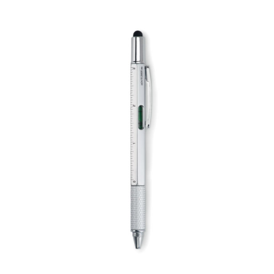 Picture of LEVEL PEN with Ruler & Stylus in Matt Silver