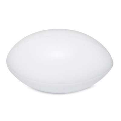 Picture of PU ANTI STRESS RUGBY BALL in White