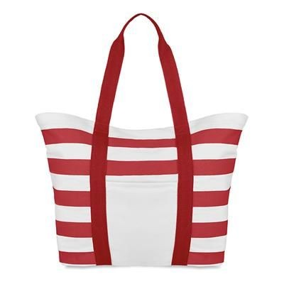 Picture of COTTON BEACH BAG in Red