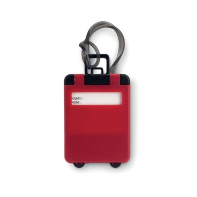 Picture of TROLLEY SHAPE LUGGAGE TAG in Red