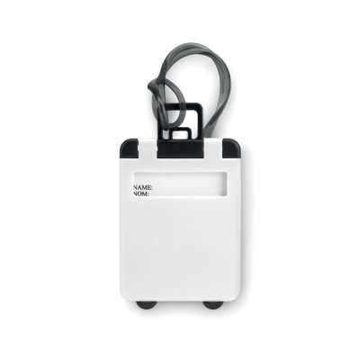 Picture of TROLLEY SHAPE LUGGAGE TAG in White