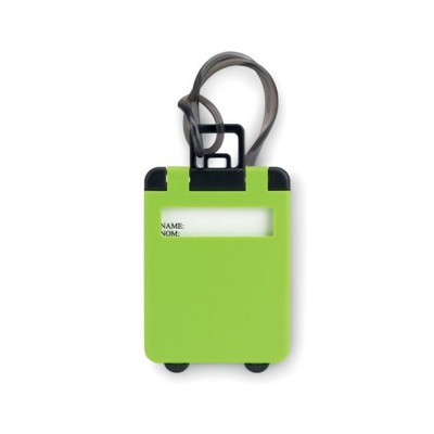 Picture of TROLLEY SHAPE LUGGAGE TAG in Green