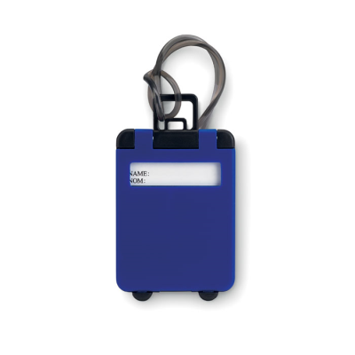 Picture of TROLLEY SHAPE LUGGAGE TAG in Royal Blue